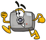 0025-0802-2115-0836_clip_art_graphic_of_a_flash_camera_cartoon_character_running