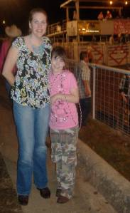 "I always love the ""calm after the storm!"" Me and my baby girl at the rodeo!"
